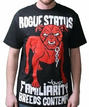 Rogue Status DTA Mens Turquoise or Black Familiarity Breeds Contempt T-Shirt NWT image 2