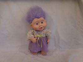 "Troll Doll Vintage APPLAUSE 1990s MAGIC TROLLS  12""  Vinyl Purple Hair DOLL - $21.79"