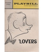 """National Theatre Playbill """"LOVERS"""" 1969 Art Carney by Brian Friel - $3.00"""