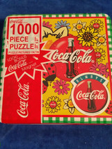 1998 Coca Cola 1000 Pc Puzzle Coca Cola Garden Flowers - Coke - Sealed - $13.25
