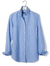 Banana Republic Women's Blue Soft-wash Linen Cotton Shirt, size XL, NWT - $78.00