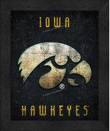 """Iowa Hawkeyes """"Retro College Logo Map"""" 13x16 Framed Print  - $39.95"""