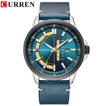 CURREN watch for men brand quartz-watch Men's Round Dial Analog Watch with Date  - $50.31