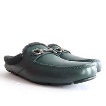 P-294284 New Salvatore Ferragamo Duca Green Leather Slip-on Shoes Size U... - $505.06