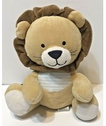 Carters Just One You Lion Plush Tan Blue Stripe Lullaby Music Wind Up Cr... - $19.33