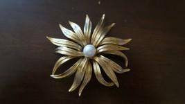 Vintage JUDY LEE Gold Tone Faux Pearl Brooch 7.8cm - $51.98