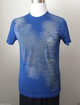 Versace Men Size M Blue Graphic Cotton T-Shirt - $92.15