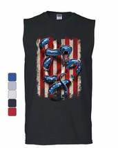 American Serpent Muscle Shirt Don't Tread on Me Gadsden Flag - $17.63+