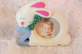 RUSS small picture frame w/rabbit & 2 for 2 yr old (a) - $5.00