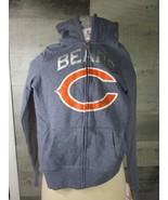 New Chicago Bears TEENS Hoodie Gray NFL Girls Hooded Sweatshirt Football... - $14.84