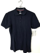 French Toast Juniors Short Sleeve Stretch Pique Polo Navy M - $5.00