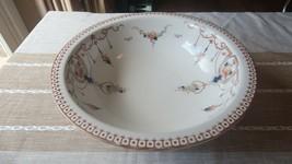 "Large Antique Porcelain China ARCADIA Punch / Fruit / Display Bowl 16.5""... - $970.20"