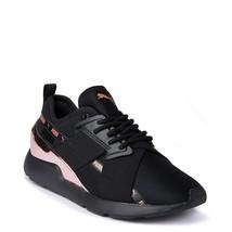 Neuf Femmes PUMA Muse Métal Athlétique Chaussure Noir or Rose X-2 - $100.46