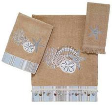 Avanti By The Sea Bath Towel Embroidered Beaded Beach Summer Home  - $43.54