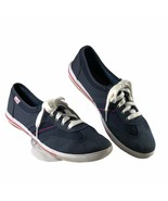 Keds Womens size 6.5 canvas shoes Navy Blue Lace up Comfort Athletic Sneakers  - $12.86