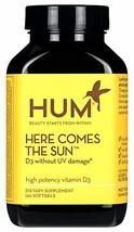 HUM Here Comes The Sun - 2000 IU Vitamin D3 120 Softgels