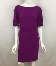 LAUREN Ralph Lauren Dress Womens 6 Pink Ruched Jersey Short Sleeve New NWT - $59.99