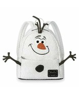 NWT Disney Parks Loungefly Olaf Sequined Mini Backpack Frozen 2 - $74.24