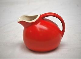 Old Vintage Small Orange Ball Jug Pitcher Creamer Hall Style Art Pottery... - $16.82
