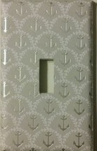 Silver Anchor Light Switch Plate Cover nautical sailor boating lake Sea ... - $8.25