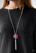 "Paparazzi Jewelry, ""Always Front and Center"" Pink Round Bead Necklace - $4.50"