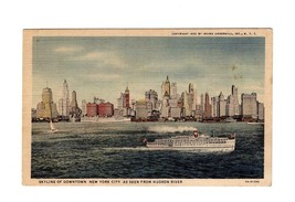POSTCARD-SKYLINE OF DOWNTOWN NEW YORK CITY AS SEEN FROM HUDSON RIVER  BK10 - $3.96