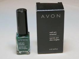 Avon nail Art Enamel Styled Green 6 ml 0.20 fl oz nail polish mani pedi - $10.68