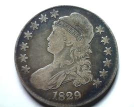 1829 BUST HALF DOLLAR O.107 R-4 VERY FINE VF NICE ORIGINAL COIN FROM BOB... - $135.00