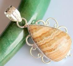 Zebra Jasper Silver Overlay Handmade Pendant Jewelry-oj-418-35_231 - $4.49