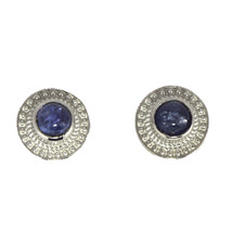 Party Wear Stud-Tanzanite Gemstone 925 Sterling Silver Earring Jewelry S... - $20.72