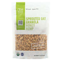 One Degree Organic Foods Sprouted Oat Hemp Granola - Honey - Case of 6 -... - $37.56
