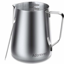Milk Frothing Pitcher 2000ml/66oz Steaming (66oz / 2000ml|1-stainless st... - $62.72 CAD
