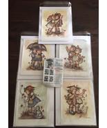 VINTAGE 1st edition LITHOGRAPH art prints BY EVANS Raindrops hummel 3 se... - $187.00