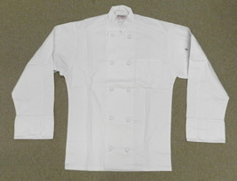 Chef Jacket White XL Uncommon Threads 403 Cloth Knot Button Uniform Coat... - $29.37