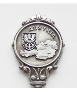 Collector Souvenir Spoon Austria Map Coat of Arms Embossed Emblem - $14.99