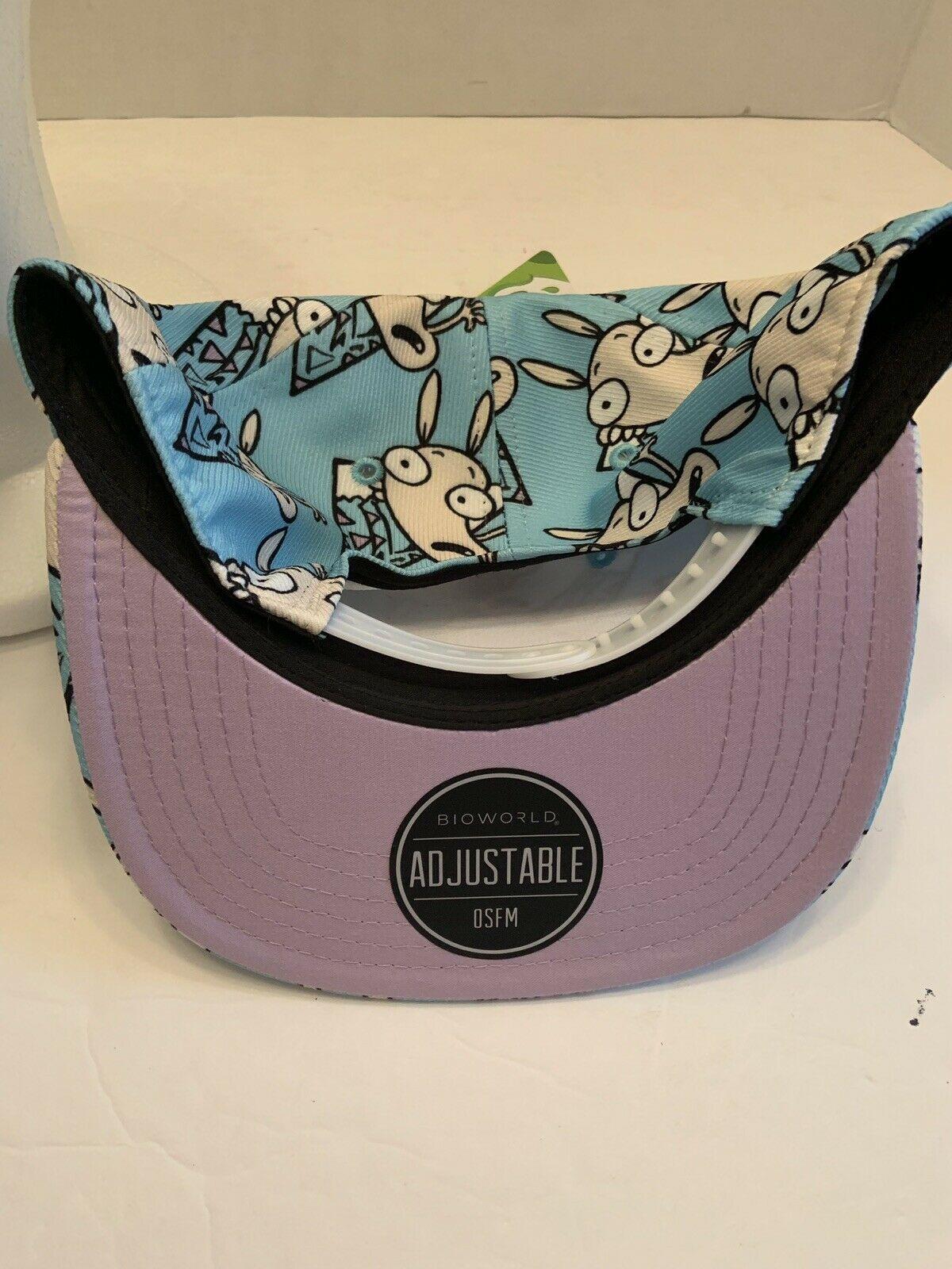 Rocko's Modern Life Adjustable baseball cap Snapback Nickelodeon Blue spunky dog