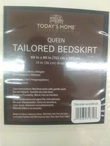 Todays Home Levinsohn Basic Cotton 200TC Tailored 14 in. Bed Skirt Ivory - Queen image 3