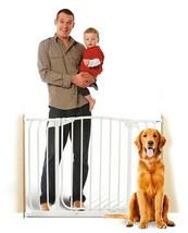 "59""-63"" White Auto-Close Adjustable Child, Baby & Pet Safety Gate - $169.99"