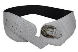 Damen Silber Kunstleder Breit West Cowgirls Mode Rodeo Gürtel M L - $28.37