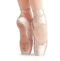 Sansha 603 Women's 8W (fits size 5-5.5 ) Pink 3/4 Shank Ovation Pointe S... - $39.99