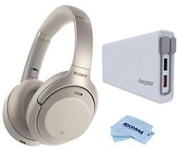 Sony WH-1000XM3 Wireless Noise-Canceling Over-Ear Headphones Kit, Silver - $253.29
