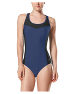 Speedo Womens Keyhole Colorblock One Piece Bathing Suit sz XL - $33.24