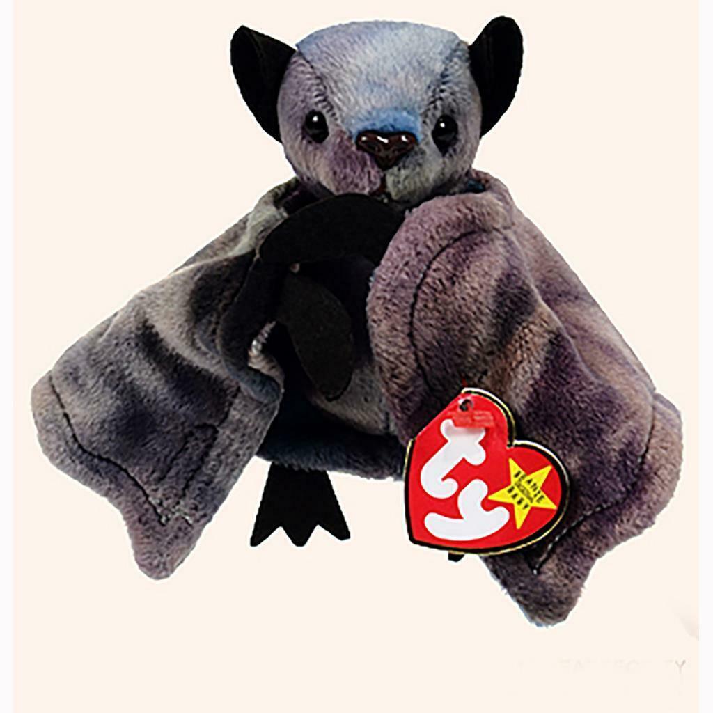 Batty the Tie-Dye Bat Ty Beanie Baby Halloween MWMT Retired