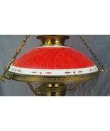 Spectacular Early Mid-Century Light Fixture Victorian Style Reverse Pain... - $285.00
