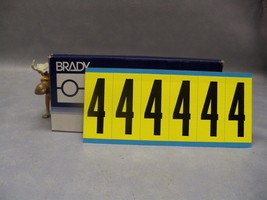 "Brady #4 3450 Series Repositionable labels 3450-4 34504 numbers 3"" H Lot... - $90.18"