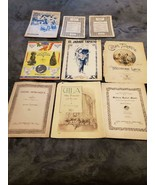 VINTAGE PIANO SHEET MUSIC - LOT OF 8 - VARIETY OF MUSIC - $35.00