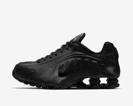 Nike Shox R4 BQ4000-001 TRIPLE BLACK METALLIC LEATHER SHOES Size 4.5, 5.... - $101.00