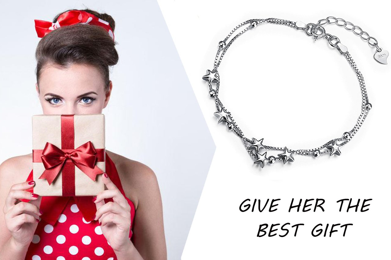 Borong Star Bracelet for Women with 925 Sterling Silver