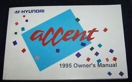 1995 hyundai accent owners manual new original - $10.99