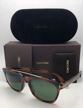 New TOM FORD Sunglasses HOLT TF 516 53N 54-19 145 Tortoise & Gold w/Green Lenses image 1